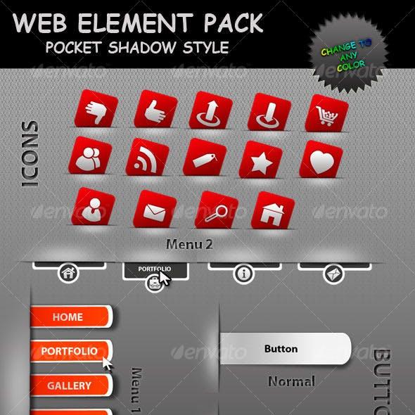 Web elements - Pocket Shadow Style