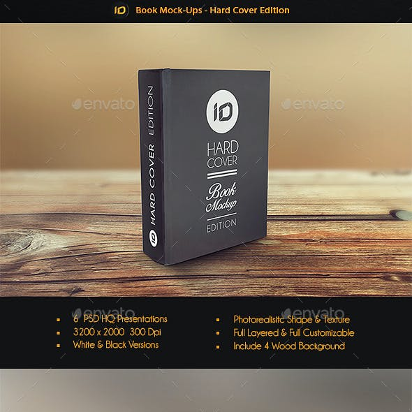 Hard Cover Book Mock Up