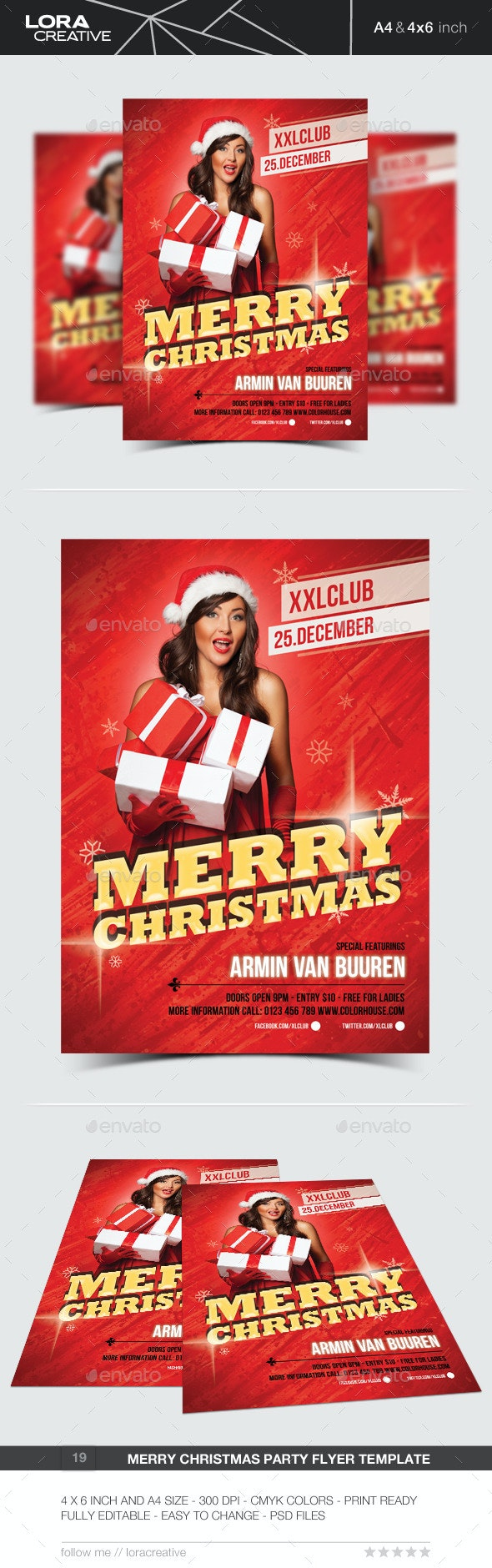Merry Christmas Party Flyer / Poster - 19 - Events Flyers
