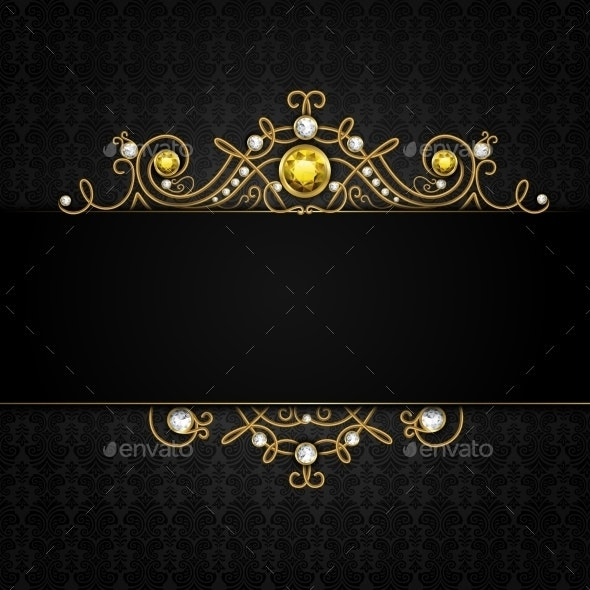 Jewelery Black Background - Backgrounds Decorative