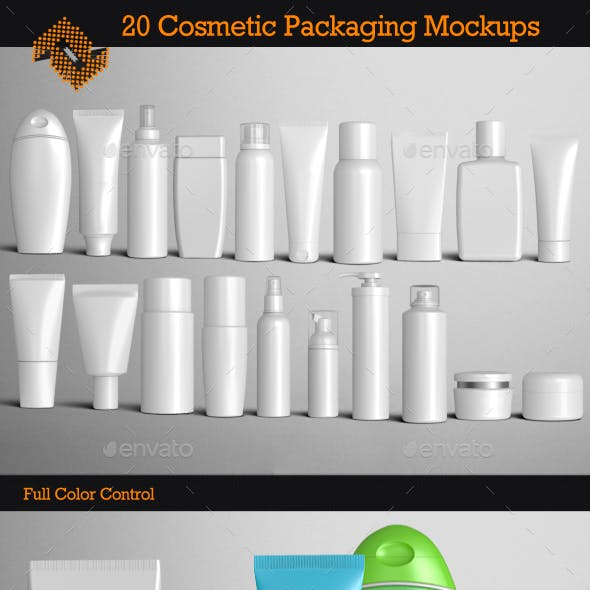 20 Cosmetic Packaging Mockups