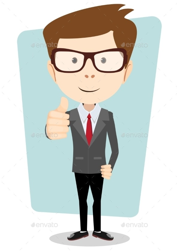 Smiling and Businessman - Business Conceptual