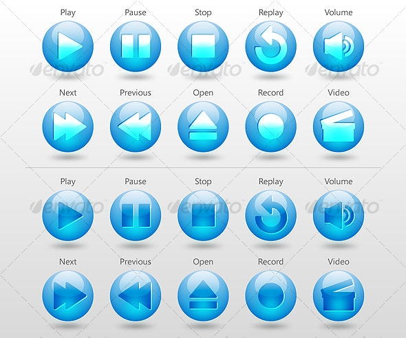 Orb Media Controls - Media Icons