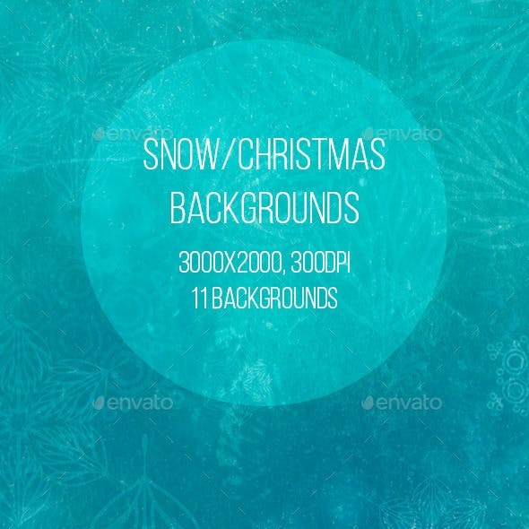 Snow/Christmas Backgrounds