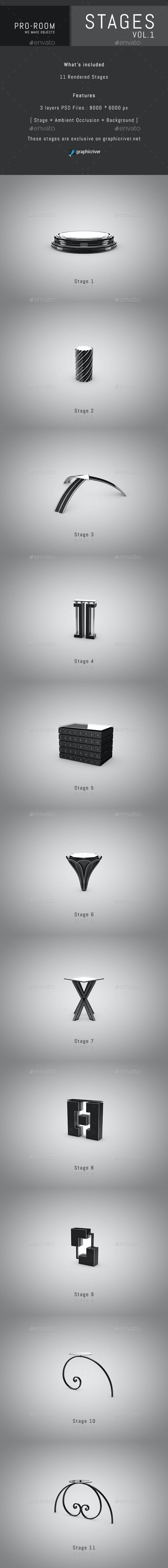 Pro-Room Stages Vol.1 - 3D Renders Graphics
