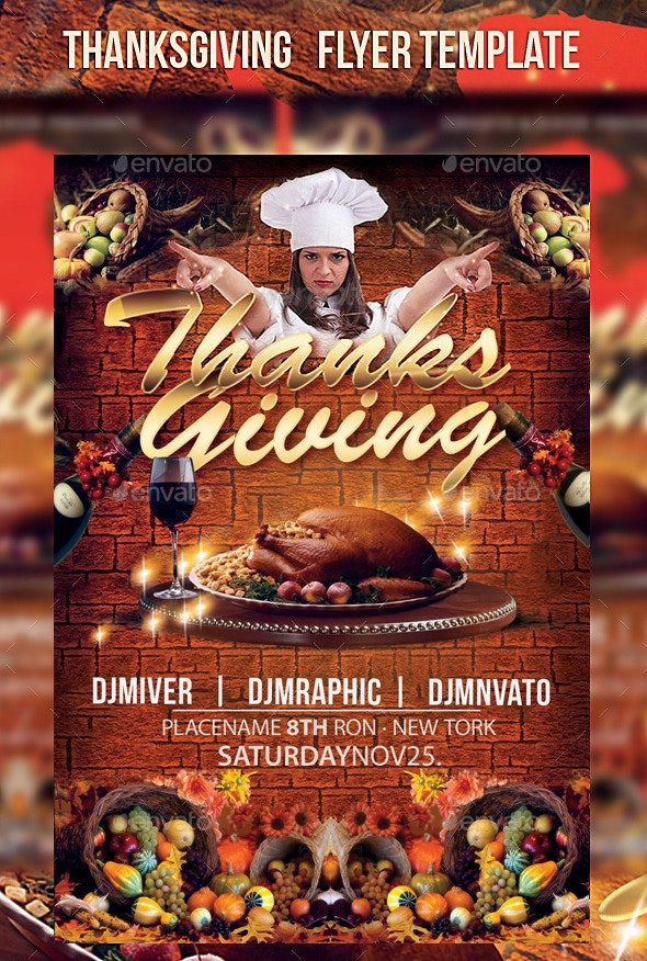 Thanksgiving   Flyer Template - Events Flyers
