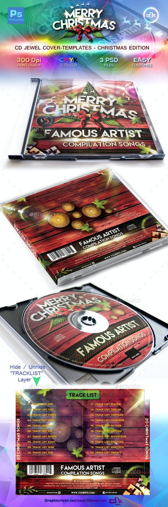 Christmas CD Cover Template - CD & DVD Artwork Print Templates