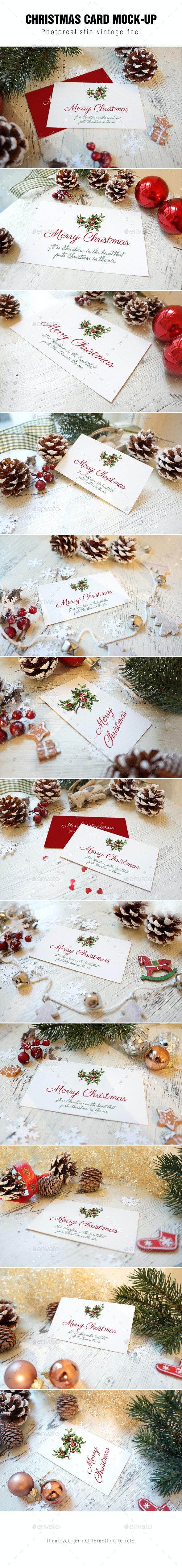 Christmas Card Mockup - Print Product Mock-Ups