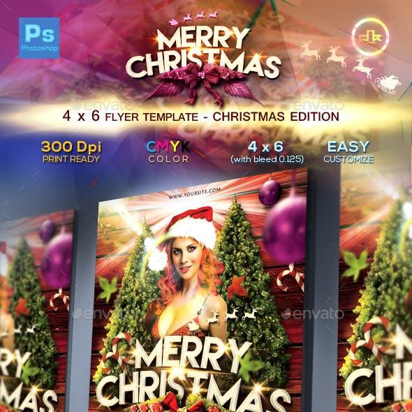 Christmas Flyer Template (4x6)