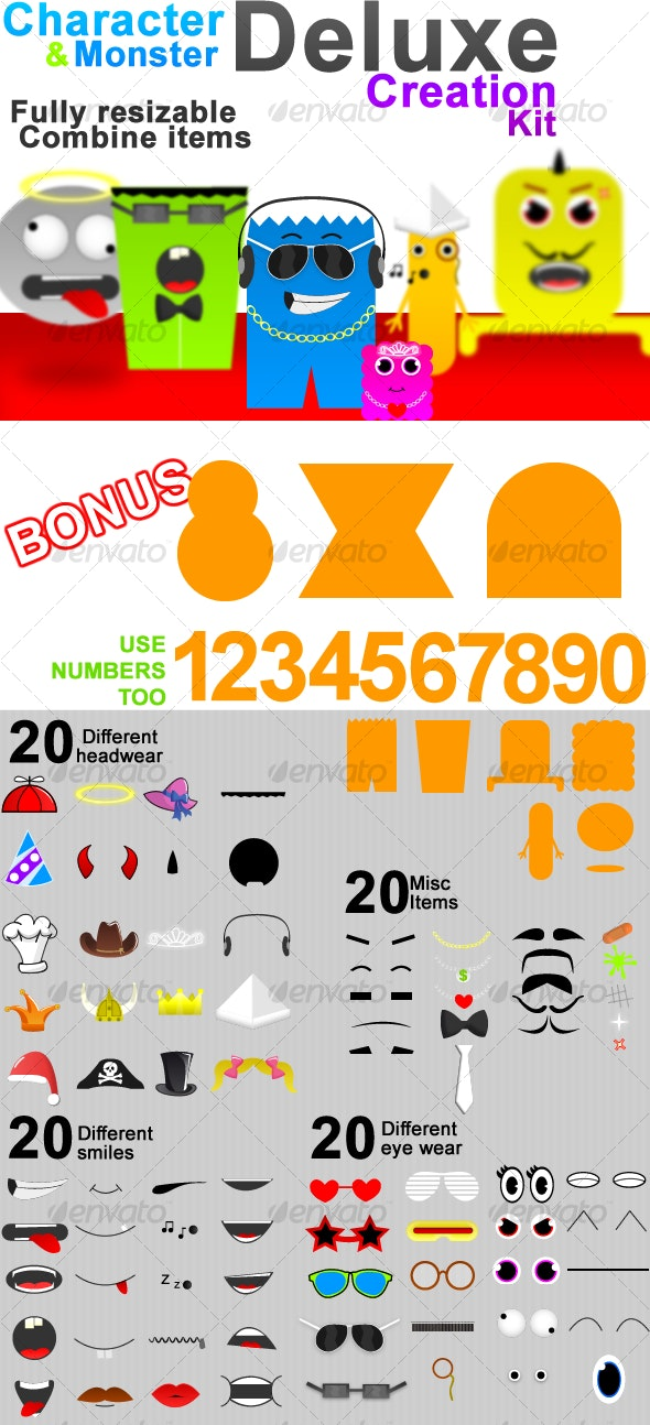 Character and Monster Deluxe Creation Kit - Miscellaneous Graphics