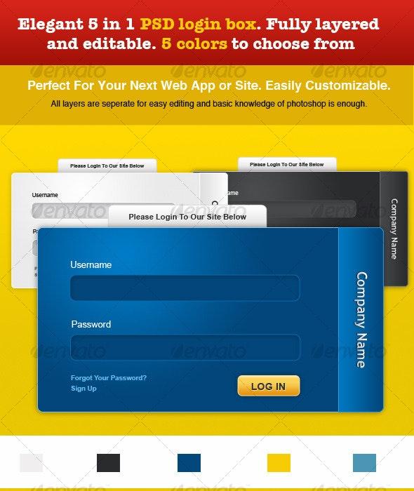 Elegant PSD login box - Forms Web Elements