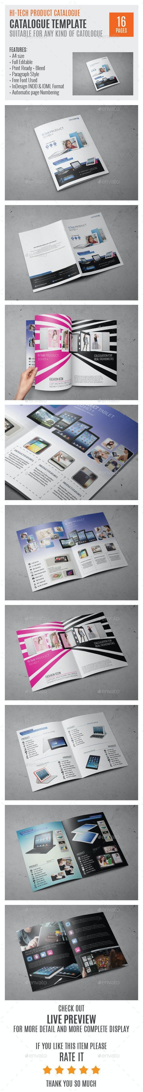 Hi-Tech Products A4 InDesign Catalog HP0006 - Catalogs Brochures