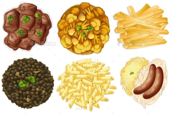Different Sets of Foods - Food Objects