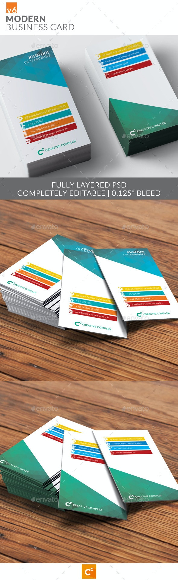 Modern Business Card v6 - Corporate Business Cards