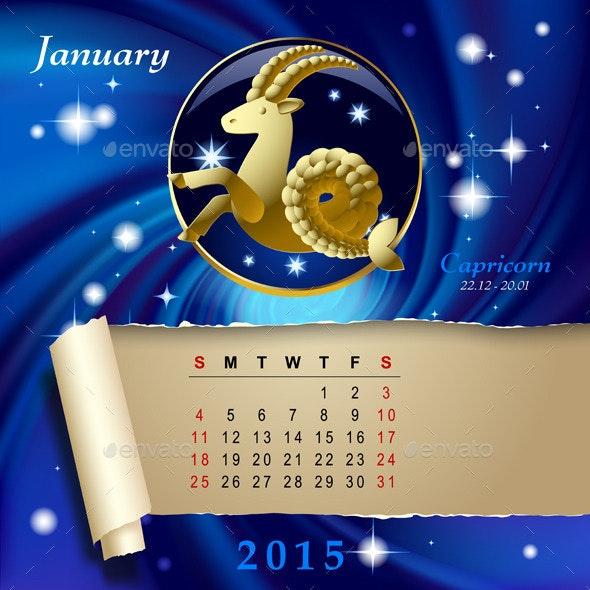Zodiac Calendar Page - Miscellaneous Vectors