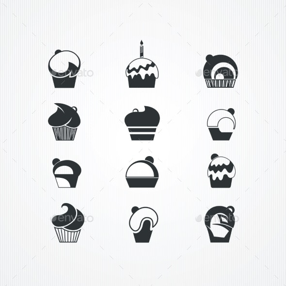 Cupcakes Set.  - Food Objects