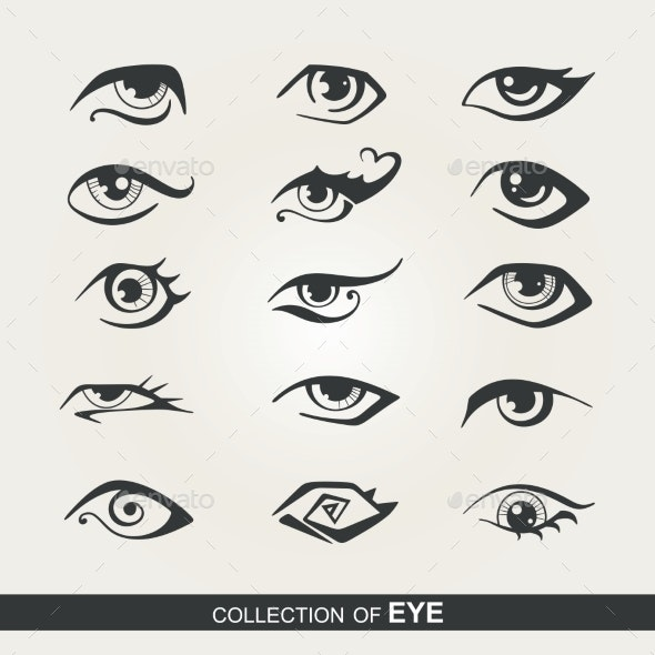 Set of Eyes - Tattoos Vectors