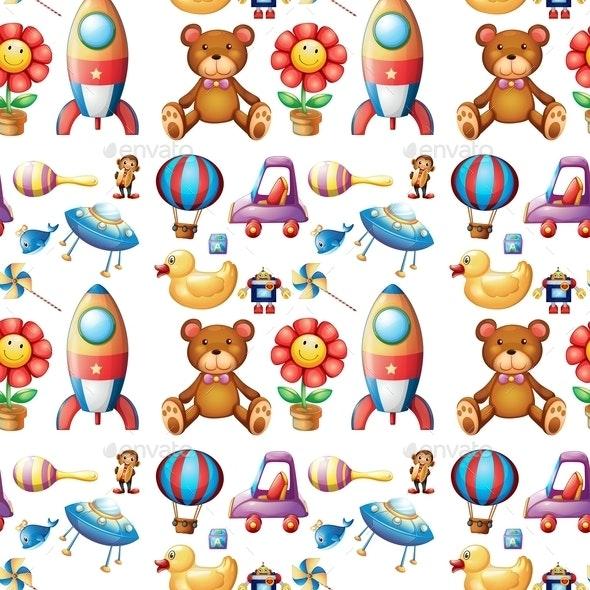 Seamless Toys - Backgrounds Decorative