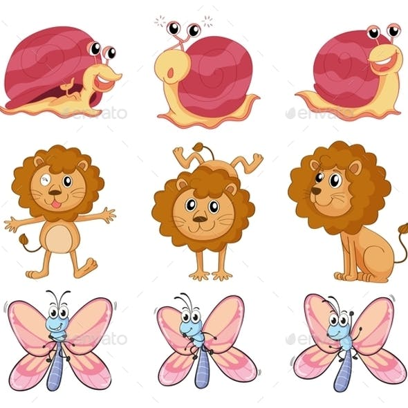 A Lion, a Snail and a Butterfly