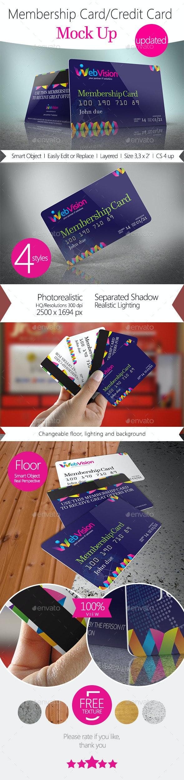 Membership Card/Credit Card Mock Up - Miscellaneous Print