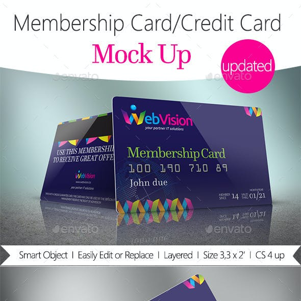 Membership Card/Credit Card Mock Up