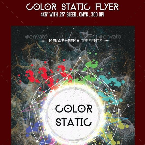 Color Static Flyer