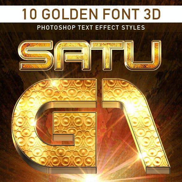 10 Golden Font 3D_1