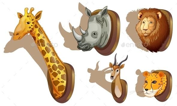 Stuffed Animal Heads - Animals Characters