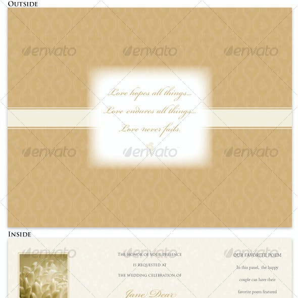 Trifold Indesign Wedding Invitation Templates From Graphicriver