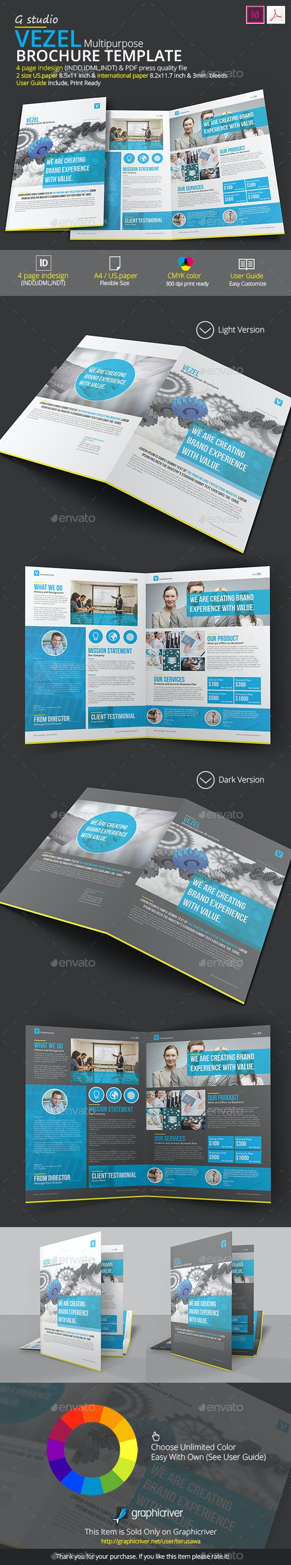 Vezel Brochure Template - Corporate Brochures