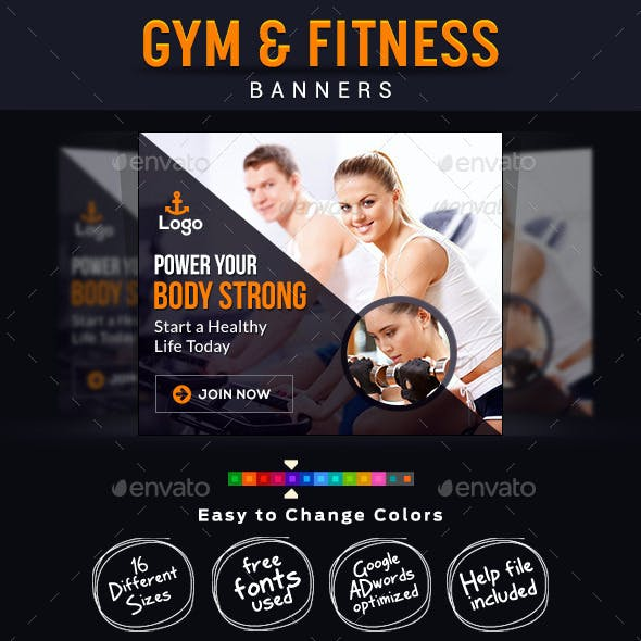 Gym & Fitness Banners
