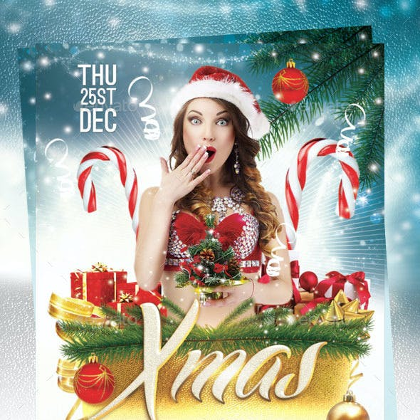 Xmas Night Party Flyer Template