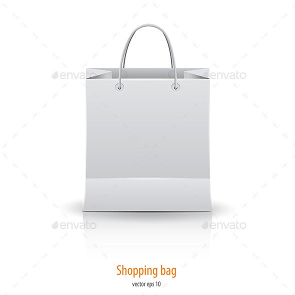 Shopping Paper Bag Isolated on White - Commercial / Shopping Conceptual
