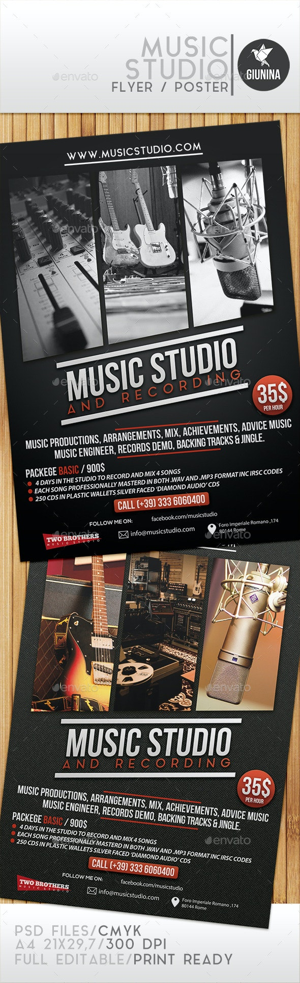 Music Studio Flyer/Poster - Commerce Flyers