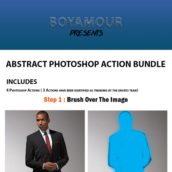 Abstract Photoshop Action Bundle