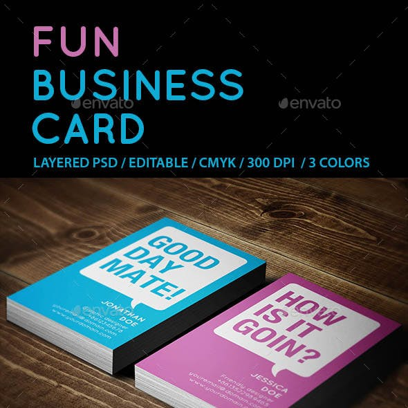 Creative Fun Business Card
