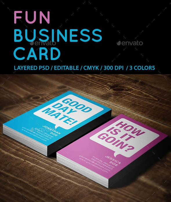 Creative Fun Business Card - Creative Business Cards