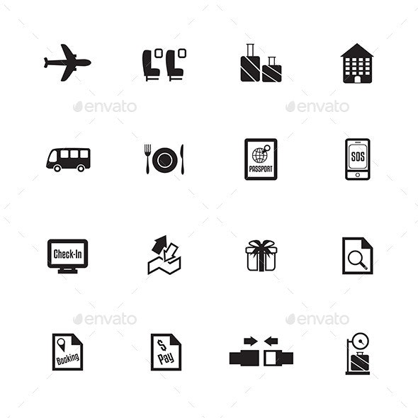 Airport Icons - Travel Conceptual