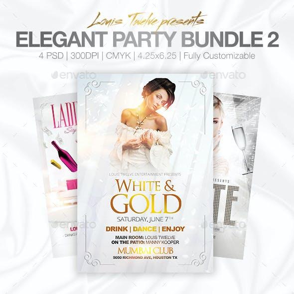 Elegant Party Flyer Bundle - White Affair Edition