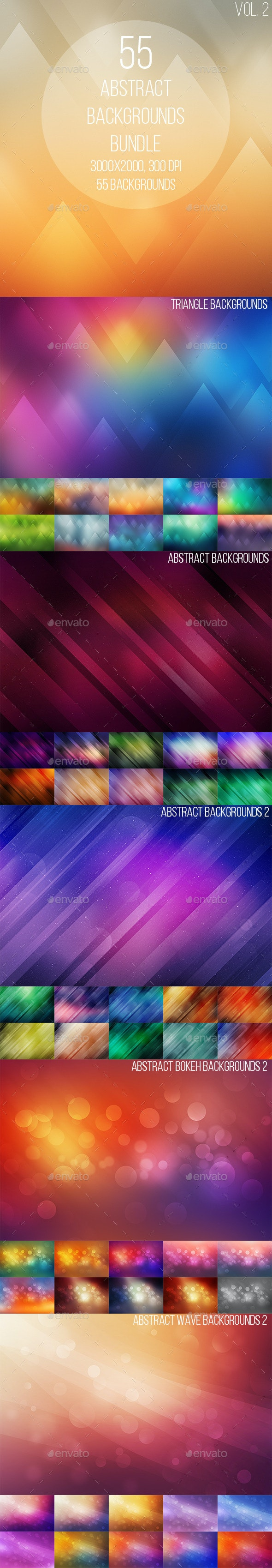 55 Abstract Backgrounds Bundle 2