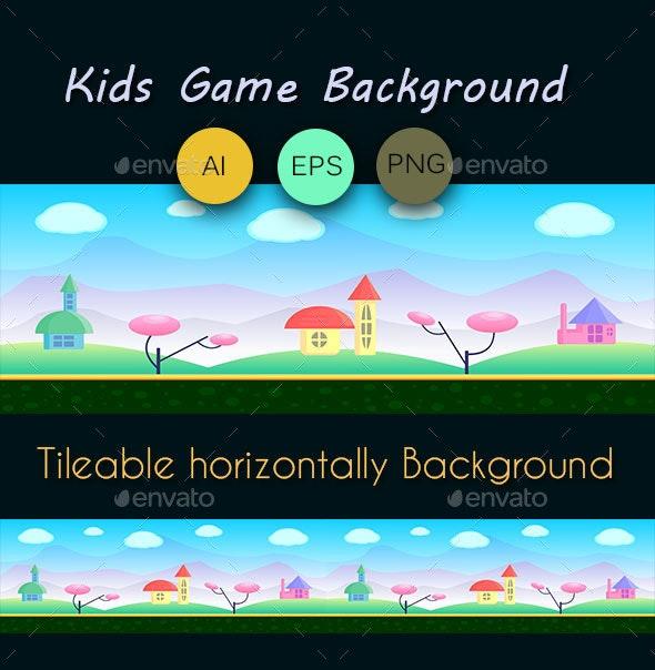 Kids Games Background - Backgrounds Game Assets