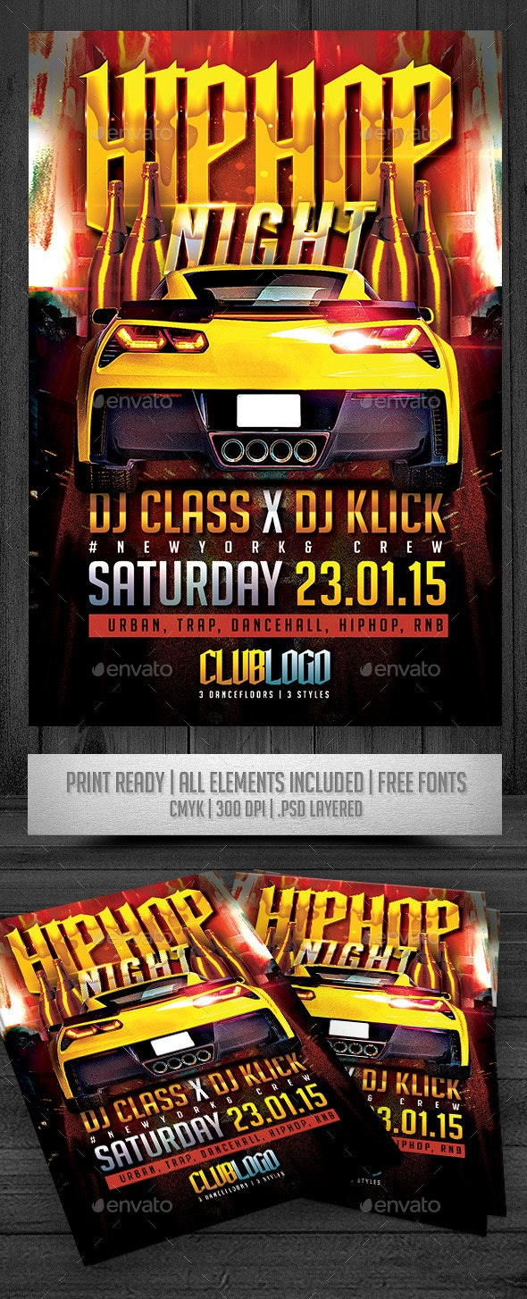 HipHop Night Flyer - Events Flyers