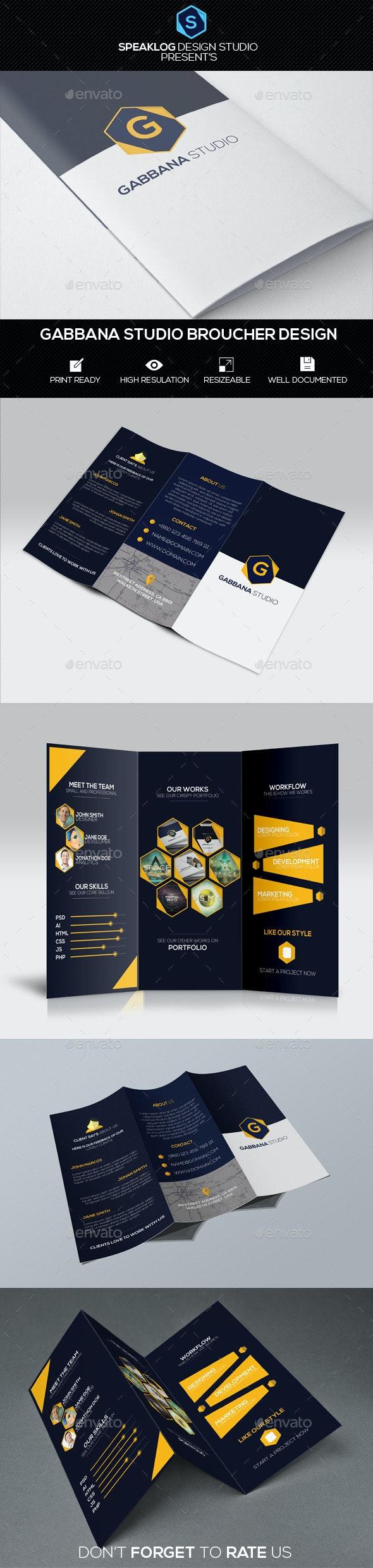 Gabbana Studio Try-Fold Brochur Design - Corporate Brochures