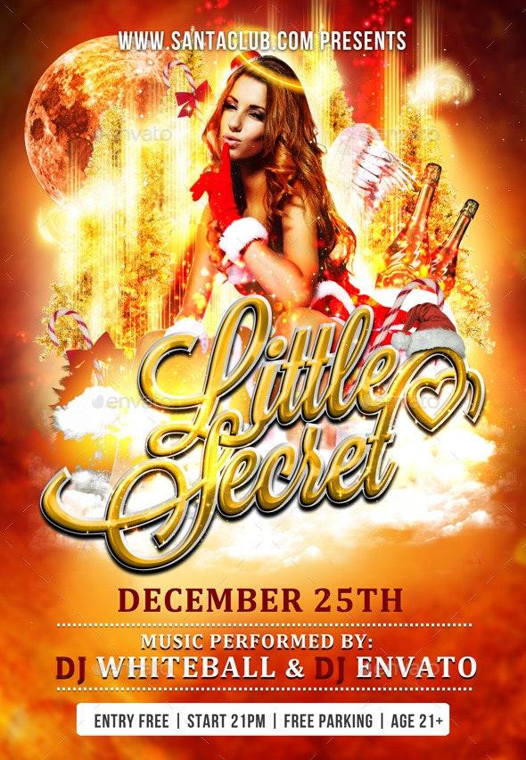 Flyer Santas Little Secret - Events Flyers