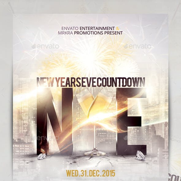 NYE New Years Eve 2015 Flyer Template