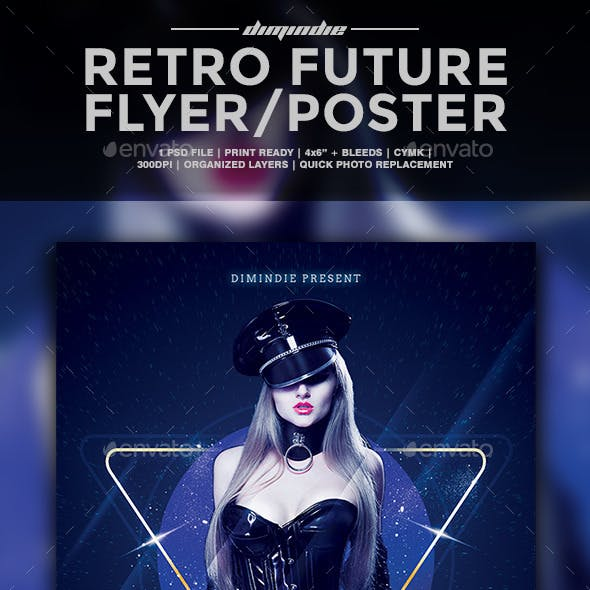 Retro Future Flyer Template