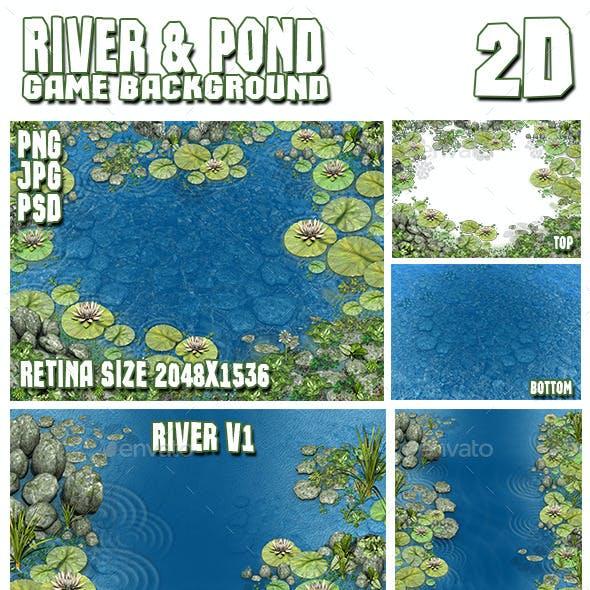 2D River & Pond Game Backgrounds Pack