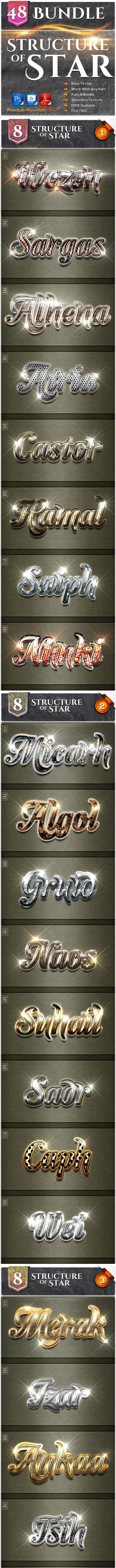 48 Structure of Stars Bundle - Text Effects Styles