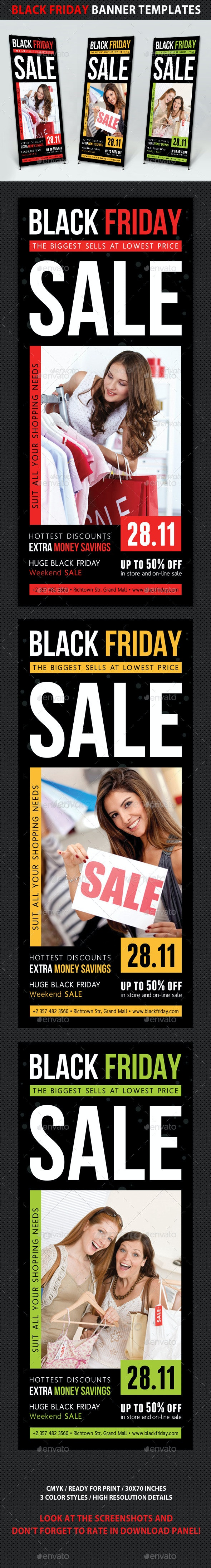 Black Friday Sale Banner Template V01 - Signage Print Templates