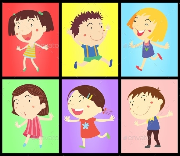 Kids on Colours - People Characters